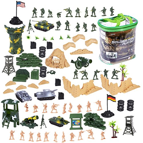 deAO 100 Piece Military Play Set...