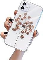 Dancila Coque iPhone 11 Housse Etui iPhone 11 Plus Bling Bling Feuille d'or de Protection Absorption de Choc Silicone...