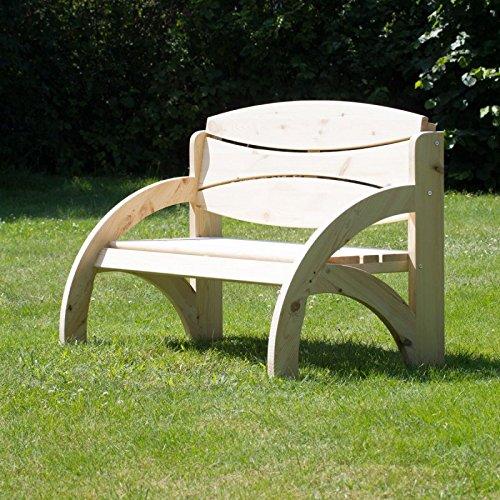 Hochzeitsbank mit Gravur, ideales Geschenk zur Hochzeit, zum Hochzeitstag oder Jahrestag – Hochwertige Holz Gartenbank mit Personalisierung aus massivem Fichtenholz - 3