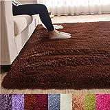 blue page Tatami Farbe Rechteck flauschig Shaggy Fußmatte, Teppich Dicker Fußmatte für Home Living Nachttisch Kinder kriechen Bereich Teppich grün 139,7cm X79, Coffee, 55 x 79 inch