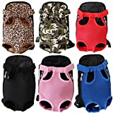 SRI Adjustable Puppy Cat Pet Carrier Backpack Travel Bag Legs Out Easy-Fit