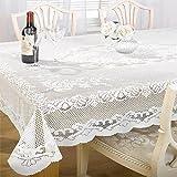Tony's Textiles Tischdecke mit Spitze, rund, 178cm, Weiß