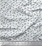 Soimoi Weiß Baumwoll-Voile Stoff Pfeife, Schuhe und