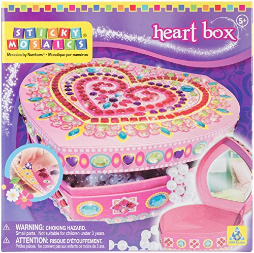 Sticky Mosaics Heart Box Craft Kit