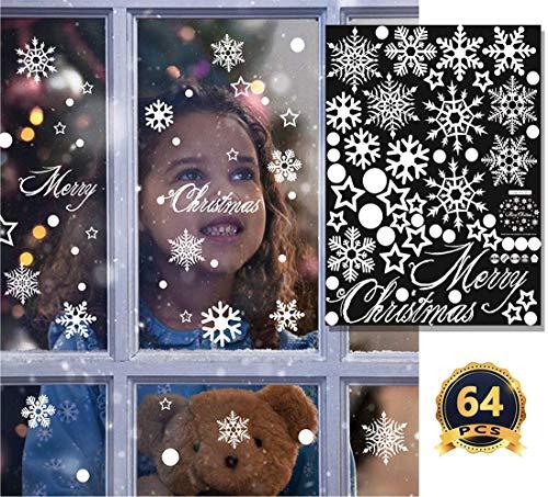 enster Klammert Schneeflocken Große Aufkleber Xmas Party Dekorationen Winter Urlaub Ornamente Neujahr Aufkleber 24 X 18 Zoll ()