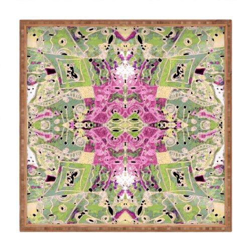 DENY Designs Ingrid Padilla Flora-Vintage Square Tablett, 12x 12