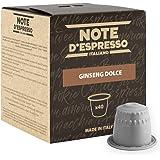 Note D'Espresso Capsule Compatibili con Sistema Nespresso, Ginseng Dolce, 40 caps x 6.5 g
