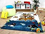 Maui Kinder und Spiel Teppich Kids Piratenschiff in 5 Größen