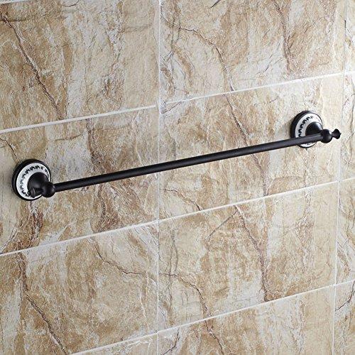 Kupfer Matt Handtuchhalter (DENG&JQ Keramik-handtuchhalter Einzelstab Matt-schwarz Bronze antik Luxus-Badezimmer Kupfer Badezimmer anhänger Wand-handtuchhalter 50cm-C)