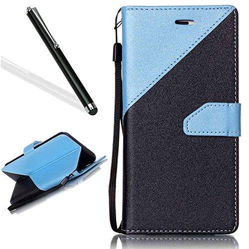 galaxy-a5-2016-wallet-casegalaxy-a5-2016-pu-flip-caseleeook-elegant-retro-beautiful-black-light-blue
