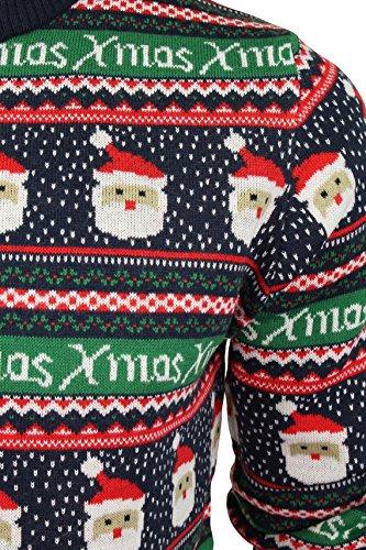 Herren Weihnachts/Xmas Pullover von Seasons Greetings Xmas - Eclipse Blue