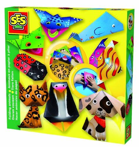 ses-14807-kit-de-loisir-creatif-animaux-en-papier-a-plier