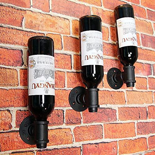 Fullwine Invert Wein Rack Wand Montiert,einzelflasche Wein Aufbewahrungshalter,Metall Wein Flasche Halter-Bronze -