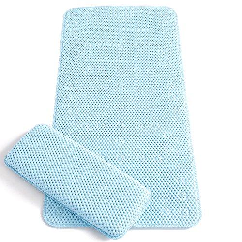 Clevamama Alfombrilla Infantil de Baño Antideslizante con Cojín para las Rodillas (Azul)