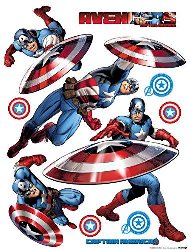 AG Design DKs 1092 Marvel Avengers, Wand Sticker, Papier, Colorful, 30 x 30 cm
