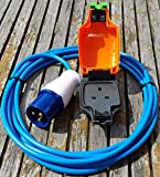 THW 5 METRE CARAVAN CAMPING HOOK UP CABLE TO 13 AMP WEATHERPROOF SOCKET