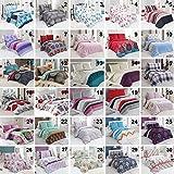 Baumwolle Bettwäsche Bettgarnitur mit Reißverschluss 3 Größen und vielen Farben Öko-Tex (200x220 cm, Design 12)