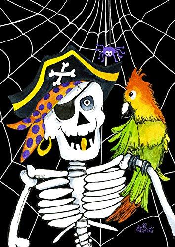 kelett Pirat 31,8x 45,7cm Dekorative Fall Halloween Buccaneer Yarr Funny Garden Flagge (Halloween-dekorationen Hof Außerhalb)