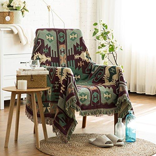 Max Home Weiche Decken Einzel Doppel Retro Geometrische Sofa Decke Bett Tailing Blanket Vier Jahreszeiten Blanket Anwendbar für Stuhl Schlafsofa (größe : 130 * 180cm) (Doppel-bett-sofa)
