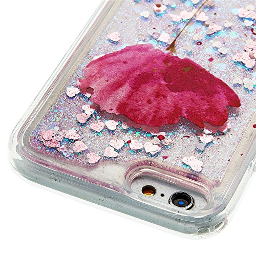 Nutbro iPhone 5S Bling Case iPhone SE Colorful Flowing Shinny iPhone 5 Glitter Star Soft TPU Back Cover Shockproof Dynamic Liquid Quicksand Mobile Phone Case YB-iPhone-5S-296