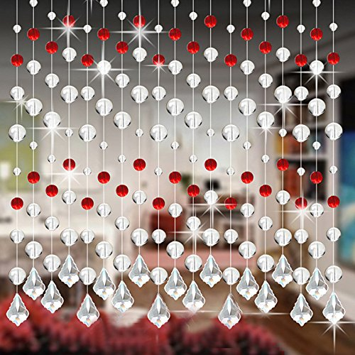 Preisvergleich Produktbild Hansee Kristall Glasperlen Vorhang Luxus Wohnzimmer Schlafzimmer Fenster Tür Hochzeit Dekor
