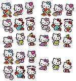 Unbekannt 27 TLG. Set _ Aufkleber / Sticker -  Hello Kitty  - selbstklebend - für Mädchen - Katzen / Kätzchen Stickerset Kinder - z.B. für Stickeralbum / Figuren - Ha..