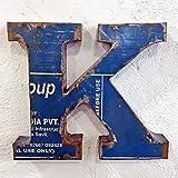 STUFF Loft Metallbuchstaben & Zeichen 3D aus Altmetall Vintage Deko-Buchstaben Höhe 31 cm (K)