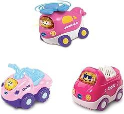 Vtech Baby 80-241254 - Tut Baby Flitzer - Set 14 (Hubschrauber Pink, Quad pink, Cabrio Pink),