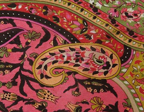 """Les Femmes De Soie Doux D'Été Paisley Imprimés Wrap Soie Rectangle Écharpe De Mode 70 """"X 20"""" Pouces Multicolor (Conception # 3)"""