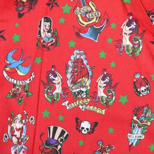 Ligne bunny rOCKA mINI robe robe rouge Rouge - Rouge