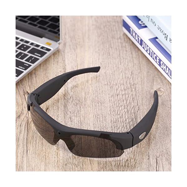 Bluetooth Gafas de Sol, Gafas estéreo Digital de los Deportes de conducción Gafas polarizadas Gafas de Sol de la cámara… 4