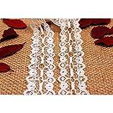 10 Meter weiß vintage Spitzenbordüre, Spitzenband, Hochzeitsdekoration, Dekorband, Zierrand, Handwerk Bordüre, Schleifband, Verpackungsdeko, 3 cm Breite