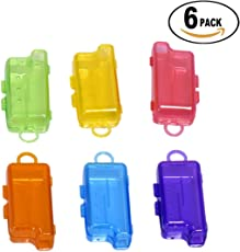 Dr. Flex Toothbrush Cap, Case, Cover, Holder, Anti Bacterial Hygiene Container (Multicolour, KR003FV) - Pack of 6