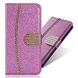 Flip Ledertasche Diamond für iPhone XS Max,Magnet Sparkle Billig Glitter Glitzer Musterg Soft Slim Retro Bookstyle Stand Funktion Karteneinschub Wallet Hülle Schutzhülle -