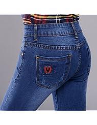 blue jeans moulants