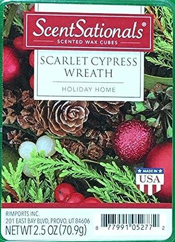 ScentSationals Scarlet Cypress Wreath Wax Cubes by ScentSationals