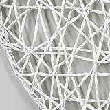 Nuances du Monde Set de table Scouby Polyester Blanc 38 x 38 cm