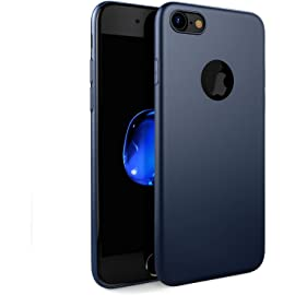 Egotude Soft Silicone Slim Back Cover Case for Apple iPhone 7  Blue