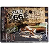 Nostalgic-Art 23147 US Highways - Route 66 Road Trip, Blechschild 30x40 cm