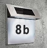 Hausnummer Solar 4 x led Solarleuchte