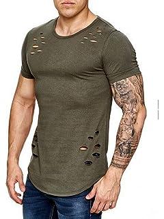 53e6c16e4f5a3e semen Herren T-Shirt Tank Top mit Löchern Destoryed Muskelshirt Slim ...