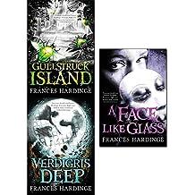 frances hardinge collection 3 books set (gullstruck island, verdigris deep, a face like glass)