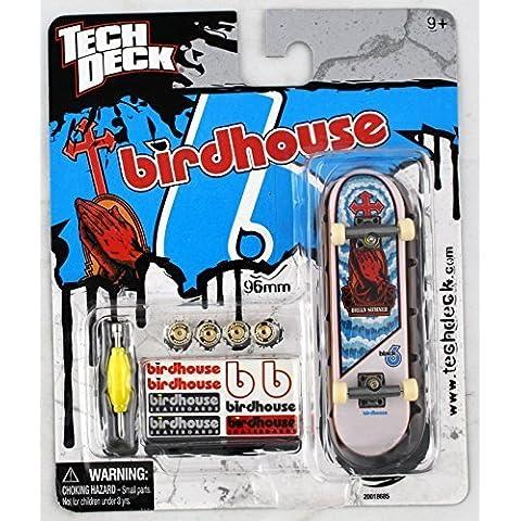 1 TECH DECK 96mm FINGERBOARD - BIRDHOUSE BOARD (Blue/White/Red) - Retired - New by Birdhouse