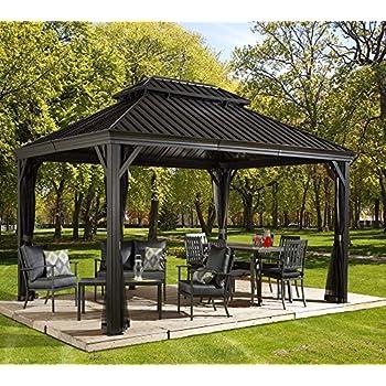 aluminium pavillon berdachung gazebo moreno 298x423 cm bxh sommer pavillon. Black Bedroom Furniture Sets. Home Design Ideas