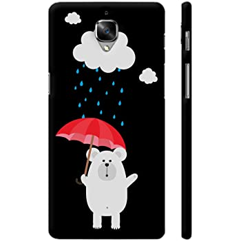 Colorpur OnePlus 3 Cover - Polar Bear With Umbrella Printed Back Case