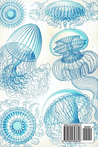 Ernst Haeckel Leptomedusae  Jellyfish 100 Page Lined Journal: Blank 100 page lined journal for your thoughts, ideas, and inspiration