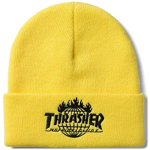 HUF x Thrasher Tour De Stoops Cuff Beanie - Yellow