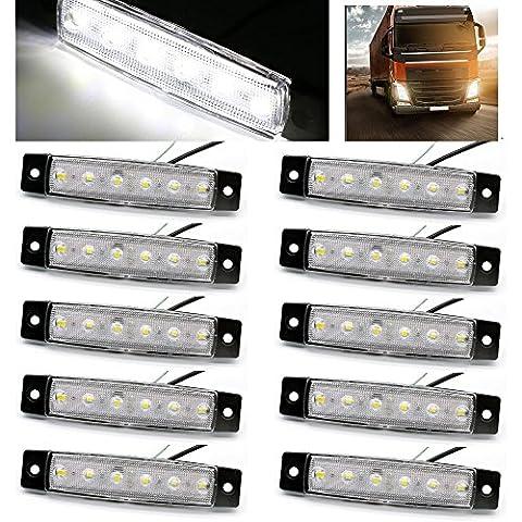 USUN 10st 6 LED 12V Weiß LKW