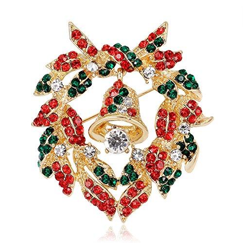 Yyogg serie di ornamenti natalizi campane, ghirlande, spille, spille