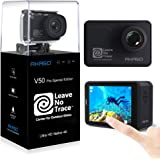 AKASO V50Pro SE 4K 60fps Action Camera Touch Screen Underwater Waterproof Camera Features EIS and Wi-Fi Remote Control Sports Camera Support External Mic with 3 Batteries and Accessory Kit